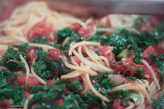 Recipe: Spaghetti with Tomato, Calabrian Chilli & Kale