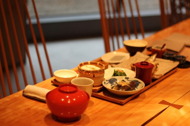 Japanese breakfast at Touzan in Kyoto