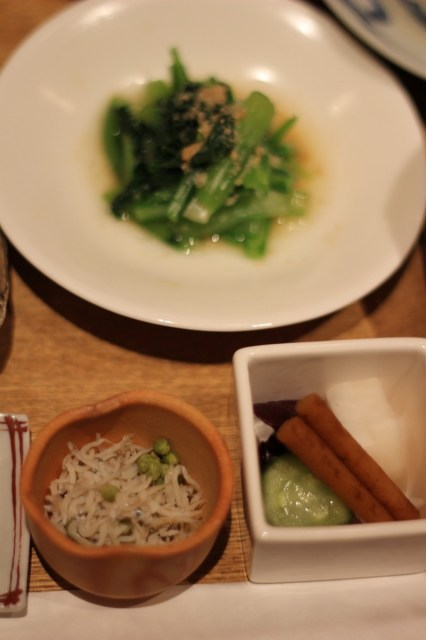 Small fry, sansho, pickles