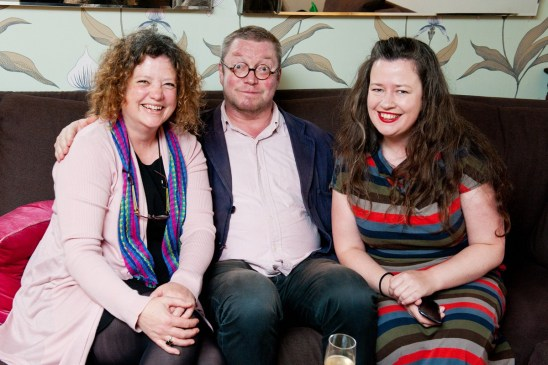 With Fergus Henderson and Sally McKenna after his dinner at an earlier West Waterford Festival of Food