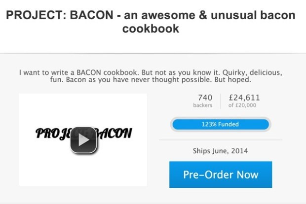 Pre-order Project: BACON wit or without a bacon box on Shopstarter