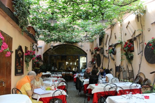 Lunch was at Trattoria Corrieri in Parma, open since 1800.