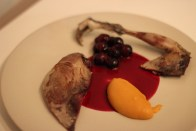 Grouse, Hibiscus Carrot, Hazelnut & Grapes
