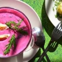 Chłodnik litewski na obiad w upalne dni