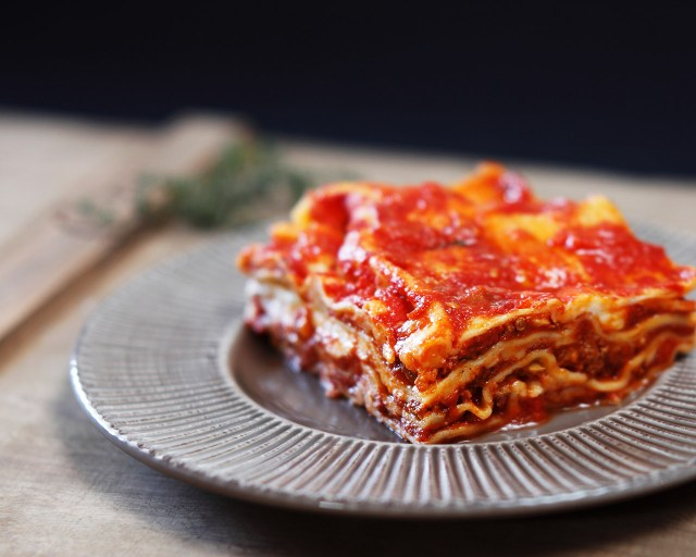 The best lasagna is apparently, by an American!