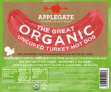 C- applegate organic turkey dog