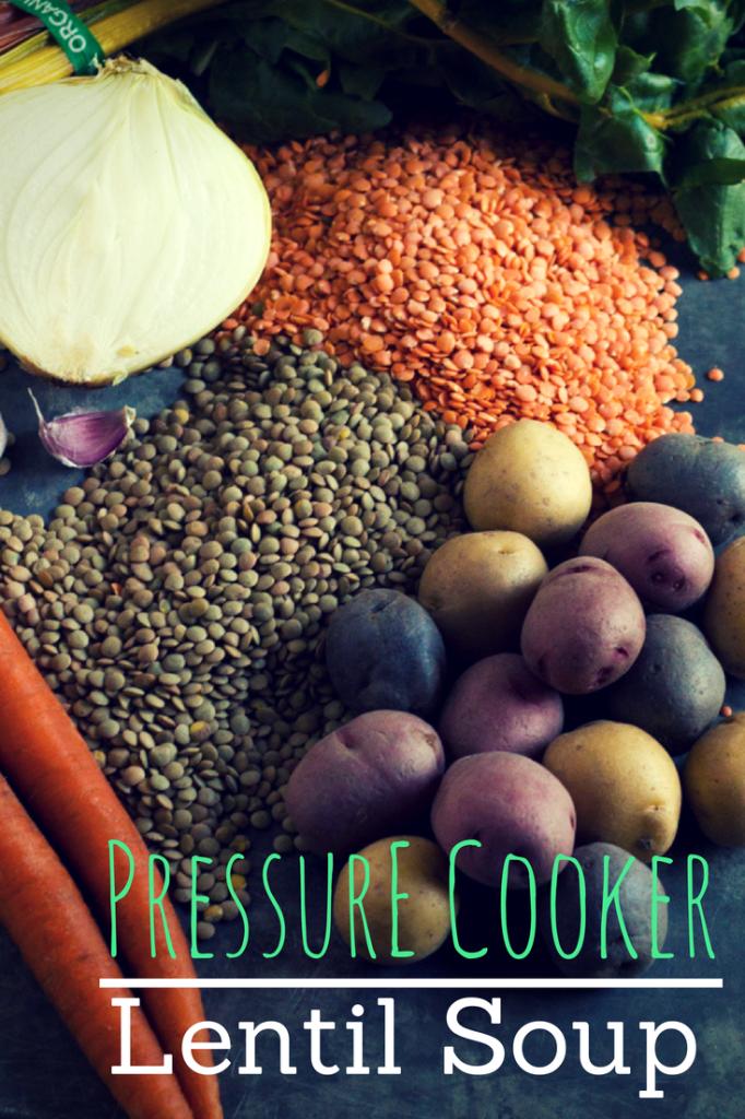 Pressure Cooker Lentil Soup | http://www.eatwithinyourmeans.com