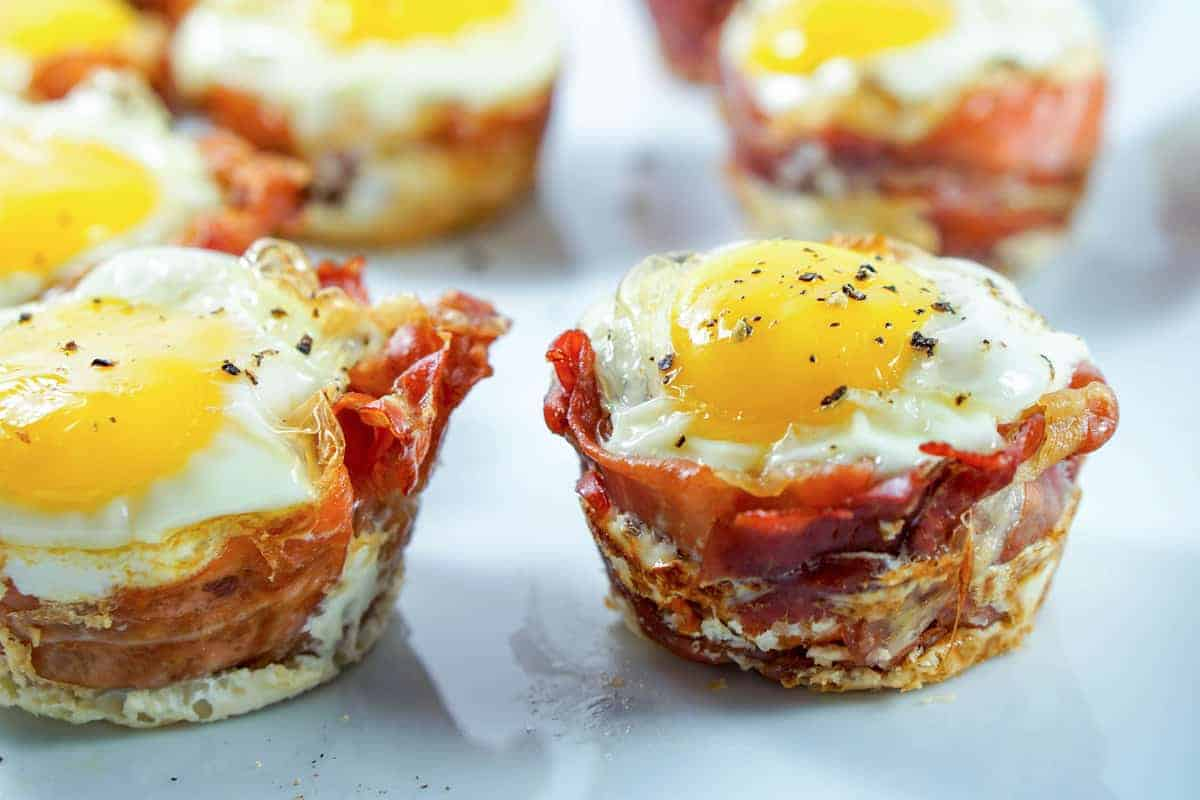 Prosciutto Sweet Potato Breakfast Nests