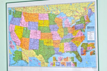 framed map of the united states by colorprint ebth