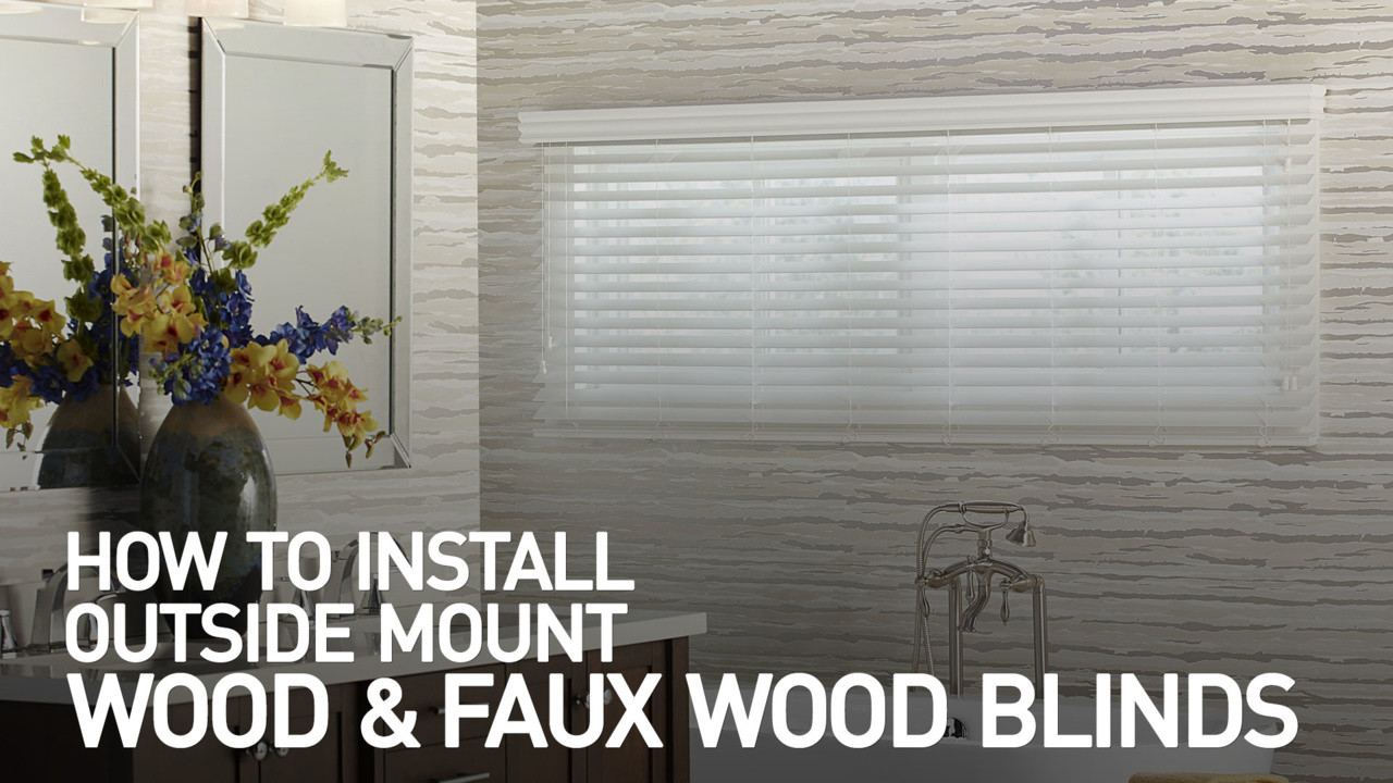 Snazzy Learn How To Install Faux Wood Blinds Outside Mount Blinds Bay Window Outside Mount Blinds Photos houzz-03 Outside Mount Blinds