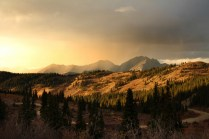 Sunset at Cottonwood Pass Summit
