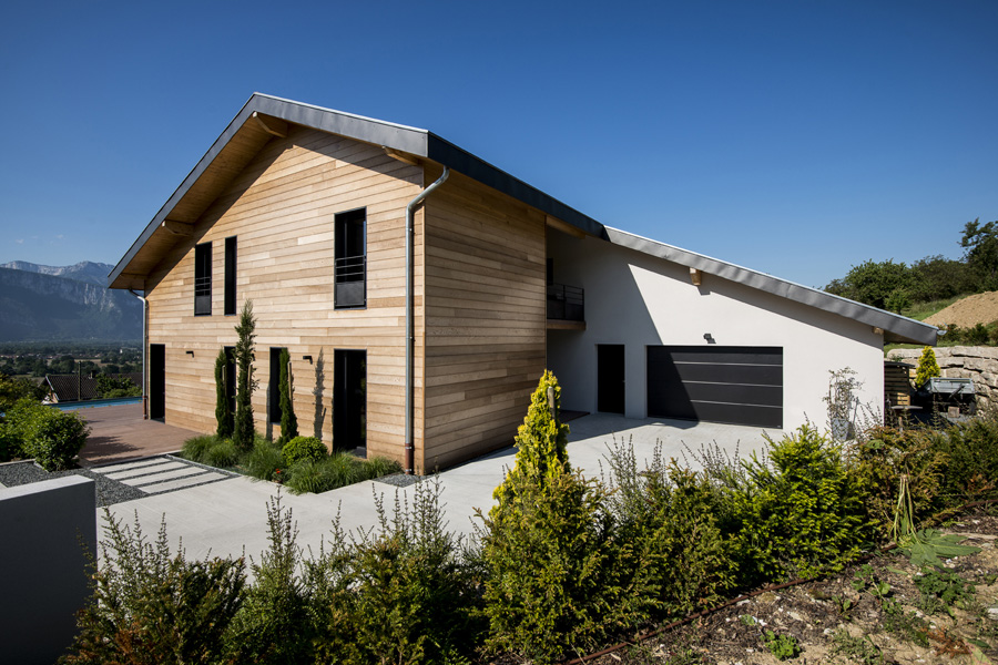 maison ossature bois bbc en rh u00f4ne alpes Ec(H)ome # Maison Ossature Bois Isere