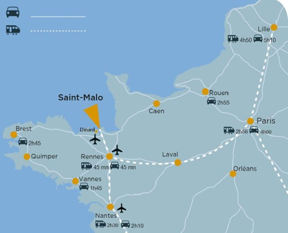 How to get to Saint-Malo