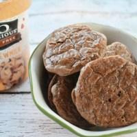 Dairy Free Frozen Chocolate Caramel Cluster Cookie Sandwiches