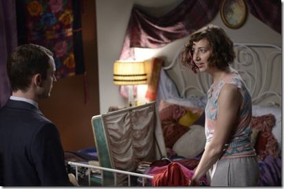WILFRED: Episode 5: Shame (Airs Thursday, July 11, 10:00 pm e/p). Pictured: (L-R): Elijah Wood as Ryan,  Kristen Schaal as Anne. CR: Michael Becker/FX