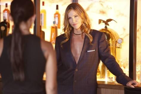 LUCIFER: Tricia Helfer in the ÒLiar, Liar, Slutty Dress on FireÓ episode of LUCIFER airing Monday, Oct. 3 (9:01-10:00 PM ET/PT) on FOX. Cr: Bettina Strauss/FOX.