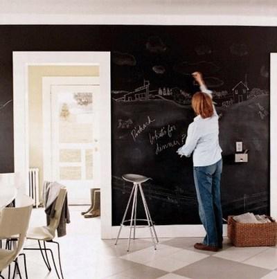 Eco-friendly children's rooms:  No VOC Lullaby Paints Chalkboard Paint