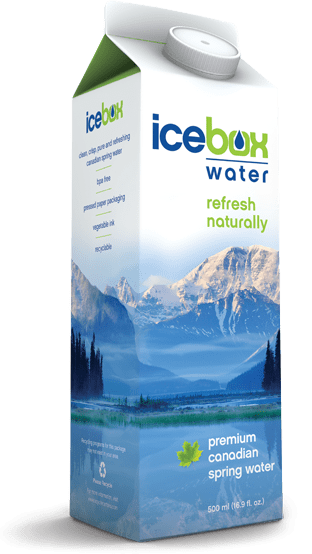 No more toxic plastic bottled water! Icedbox  Spring Water in Paper!
