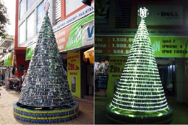 Christmas Tree Created by Westcom Electronics Employees