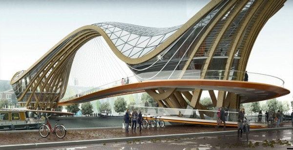 Mixed-use Bridge for Amsterdam