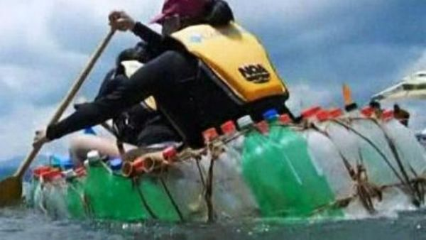 recycled garbage boat race