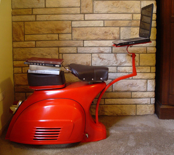 Recycled Vespa Scooter Desk