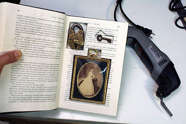 secret hollowed-out book