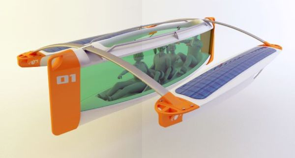 solar powered underwater boat