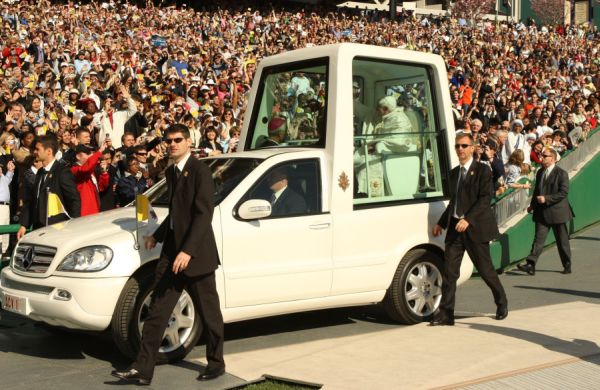 Solar Powered Pope Mobile