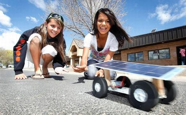 Solar powered toy car