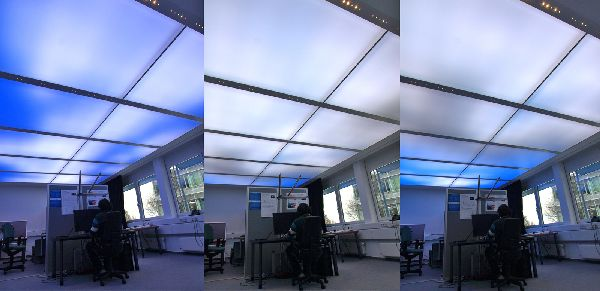 Working Under an Energy Efficient LED Sky Ceiling at the Office