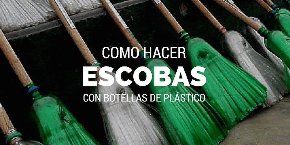 Como hacer escobas con botellas de plastico