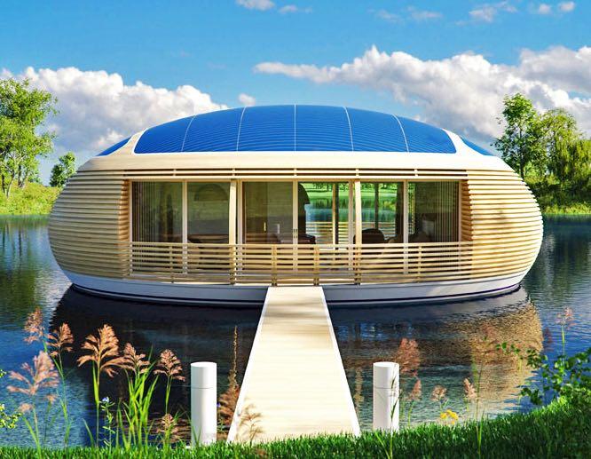 Casa solar flotante