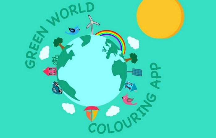 Green World Coloring App