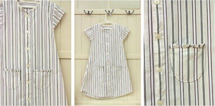 Como convertir camisas de papa en vestidos para niña
