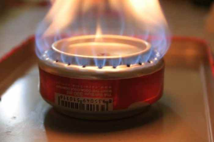C mo hacer una estufa de alcohol con una lata - Papel para cocinar ...