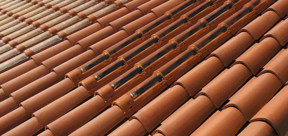 Tejas solares termicas