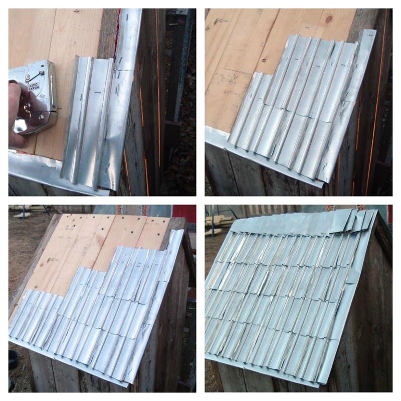 Como hacer tejas con latas de aluminio5