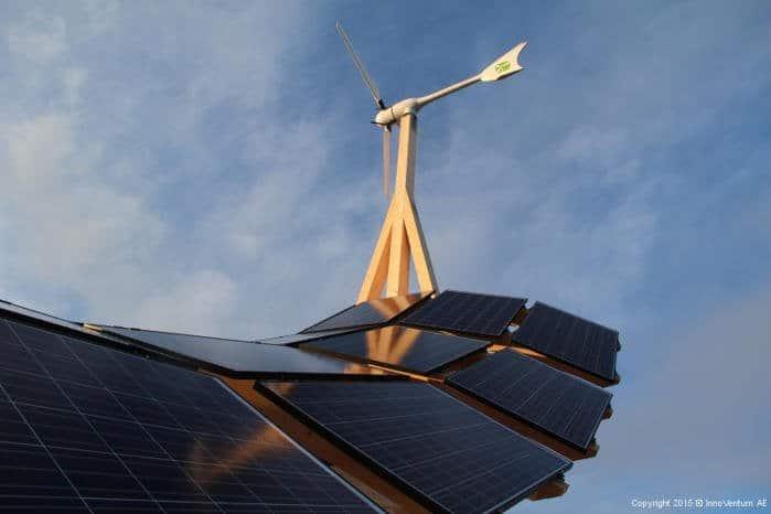 Estación de generación híbrida que proporciona energía renovable 24 h al día