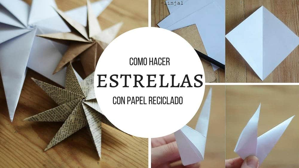 Como hacer estrellas con papel reciclado - Estrellas de papel para navidad ...