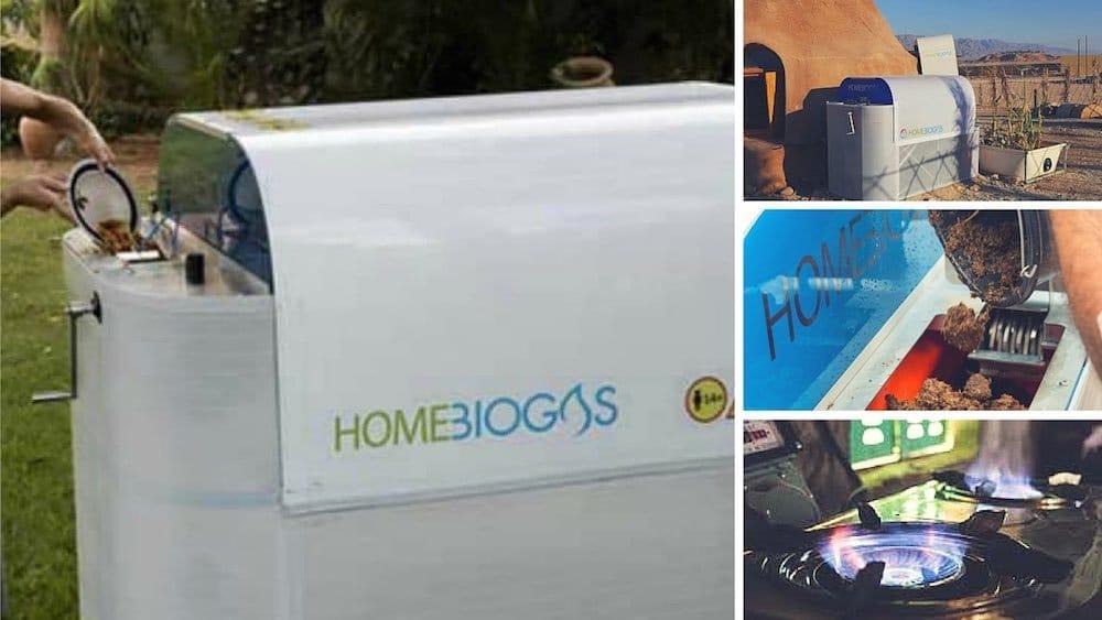 Máquina de biogas casera que te permite convertir tus desechos orgánicos en combustible para cocinar