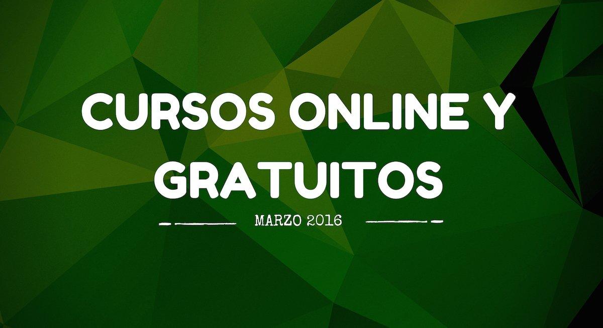 Cursos online y gratuitos que se inician en marzo