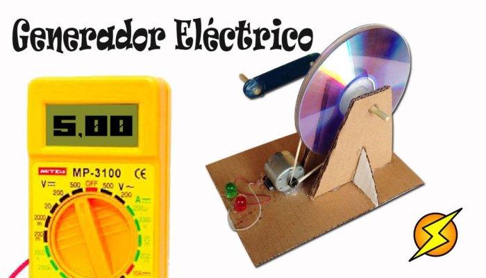 Como hacer un pequeño generador eléctrico casero
