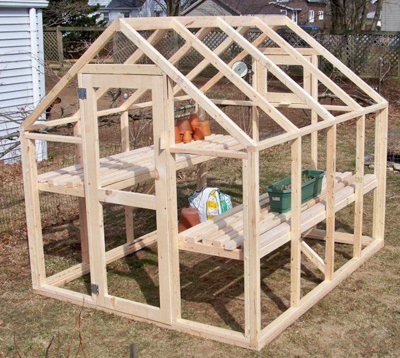 Como construir un invernadero con estructura de madera for Vivero estructura