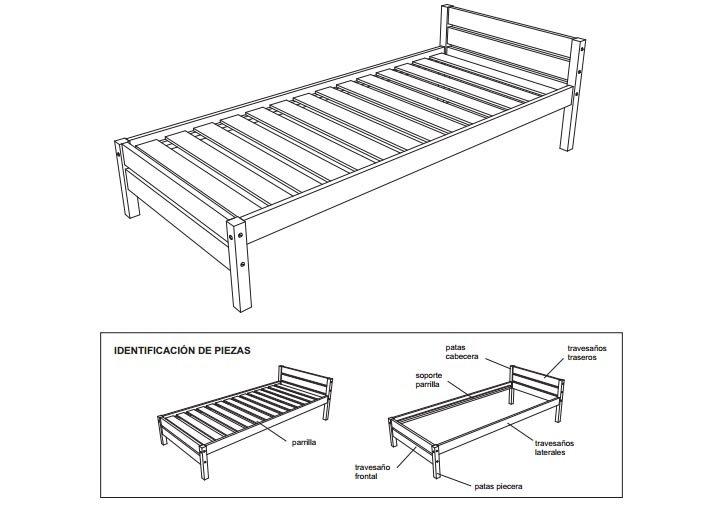 Planos para construir muebles de madera taringa for Como hacer una cama matrimonial de madera