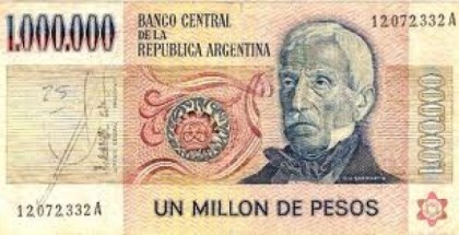 BILLETE UN MILLON
