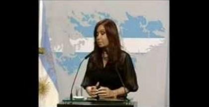 CFK HABLANDO INGLES