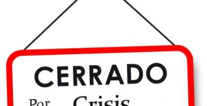 cerrado por crisis