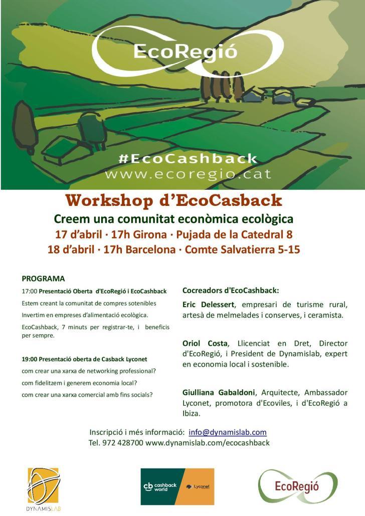 EcoRegió EcoCashBack Girona 17 abril - 18 BCN