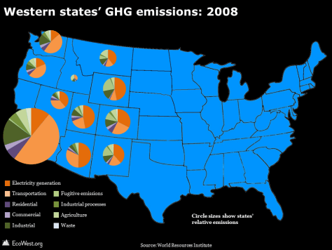 Western states GHG map